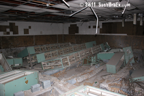 Remains of the guidance / launch computers - lots of racks!