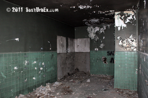 Remains of the bathrooms in guidance control / launch facility