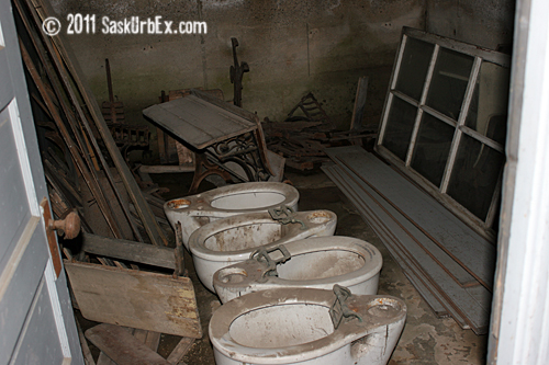 toilets in basement