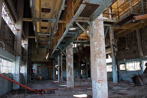 Gutted Interior of Power Plant